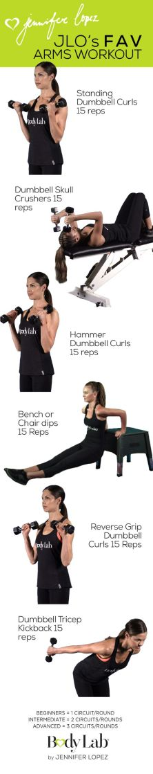JLO's fav arms workout