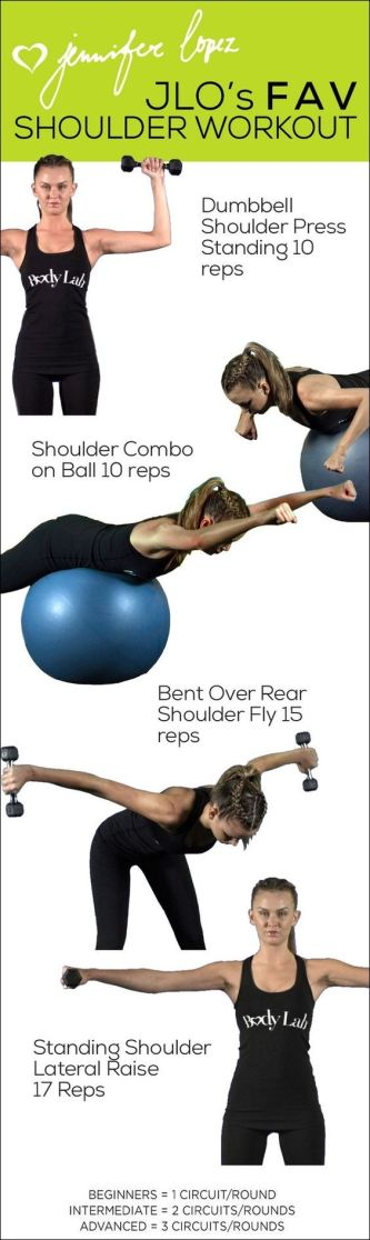 JLO's fav shoulder workout